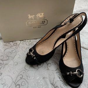 Coach black heels size 9